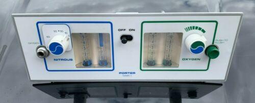 Porter Nitrous Oxide Oxygen  Flowmeter MXR-1