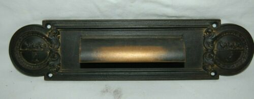 Antique Masonic Bronze Interior Letter Slot