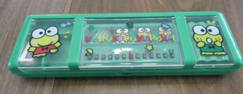 Vintage 1990s Sanrio Hello Kitty Keroppi Musical Pencil Case-Green-VGUC-No sound