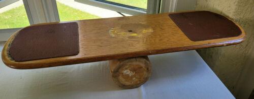 "Vintage Original Bongo Board Wood 2 Pieces #104 Adult Size Big Bongo 34"""
