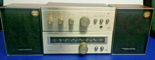 Realistic SA-102 Amplifier (31-1963) And TM-102 Tuner (31-1964) with Speakers