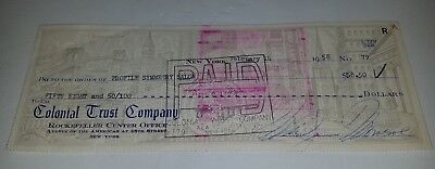 Marilyn Monroe Signed Check Bank Cleared Autographed Rare With Actual Receipt