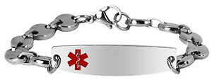 New-7-thru-8-5-inch-Stainless-Steel-Engravable-Medical-Alert-ID-Bracelet