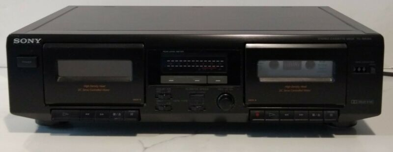Sony High Density Head Dual Stereo Cassette Deck Player Recorder Model TC-WE305