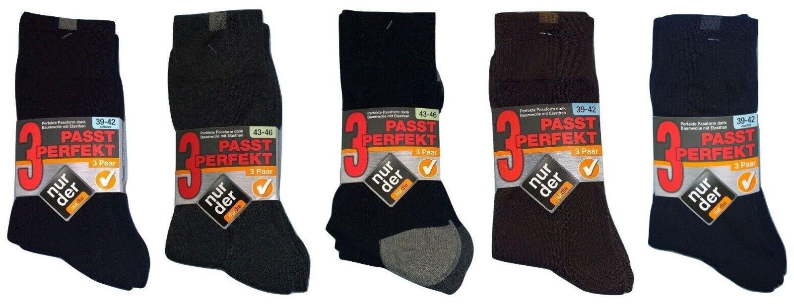 Nur Der Passt Perfekt Herren Socken 3er Pack