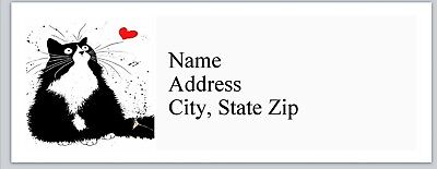 Personalized Address Labels Cute Fat Cat With A Heart Buy 3 Get 1 Free Bx 799