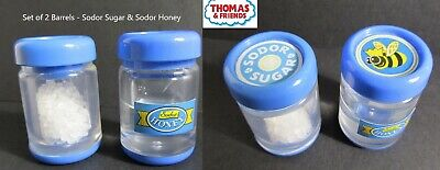 LOOSE Thomas the Train Accessory BARREL Sodor Sugar & Sodor Honey (set of 2)