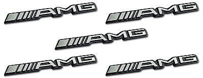5x AMG Sticker Emblem Logo Aufkleber Mercedes C CL CLS E S SL SLK ML GL B 63 GLE
