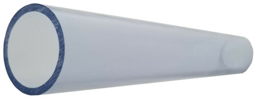 """1/2"""" to 4"""" Diameter Clear PVC Pipe, SCH 40, Choose Your Length (5 IN to 8 FT)"""