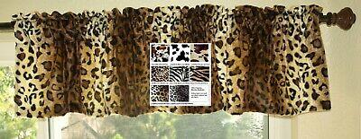 Animal Print Window Valance Zebra Leopard Cow Print Giraffe Western Western Cow Print