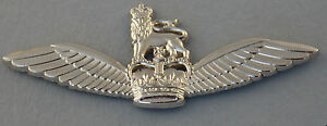 ARMY  PILOTS WINGS BRIGHT NICKEL PLATED WITH 3 PINS