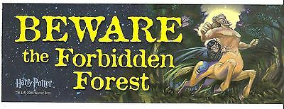 BEWARE The FORBIDDEN FOREST 3x9 Door Sign Locker Art Decal Sticker Harry Potter - Halloween Locker Decorations