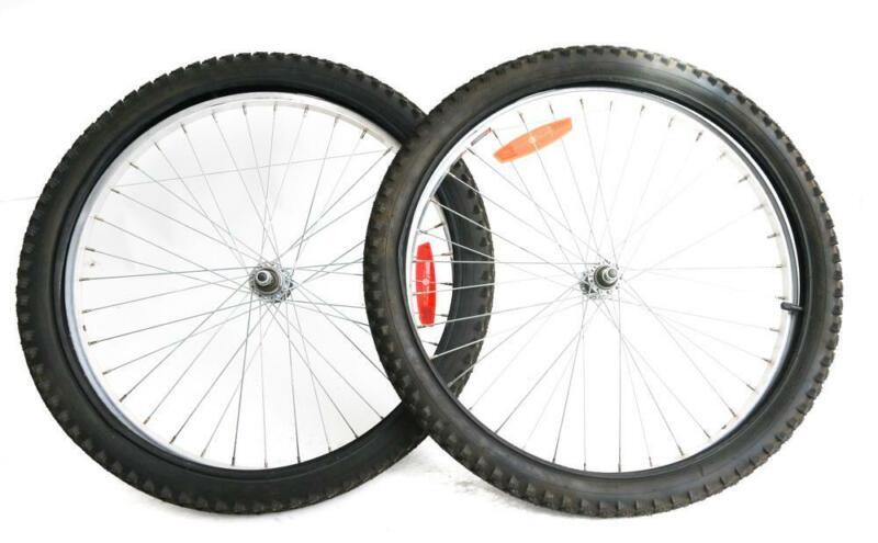 "X-Rims 24"" MTB Bike Wheelset 3/8  + Tires Rim Brake Freewheel Compatible Used"
