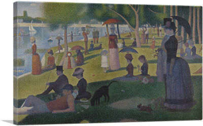 A Sunday Afternoon on the Island of La Grande Jatte Canvas Art Georges