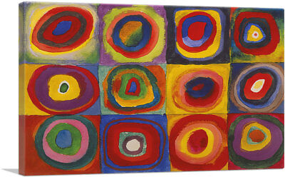 Color Study Squares with Concentric Circles Canvas Art Print Wassily Kandinsky ()