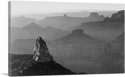 View With Rock Formation Grand Canyon Arizona Canvas Art Print Ansel Adams Grand Canyon Arizona Framed