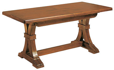 Tavolo pranzo 180x85 allungabile arte povera in legno massello NOCE 66 taverna