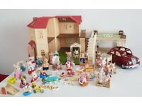 Sylvanian Families bundle including large house and car.