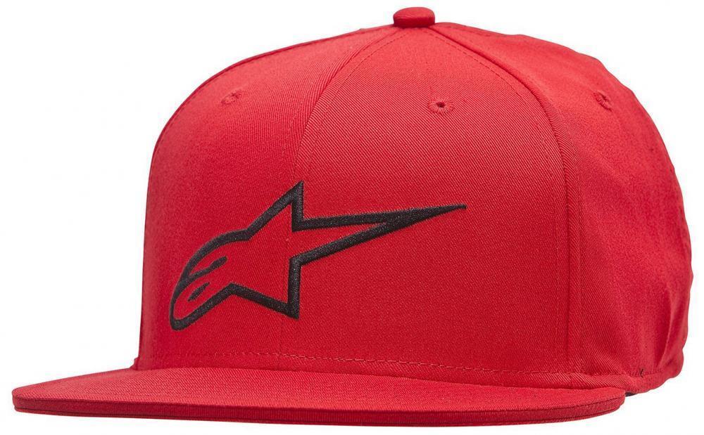 Alpinestars Ageless Mens Flat Hat In Red Cap From Alpinestars
