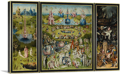 Bosch Garden - ARTCANVAS The Garden of Earthly Delights 1515 Canvas Art Print Hieronymus Bosch