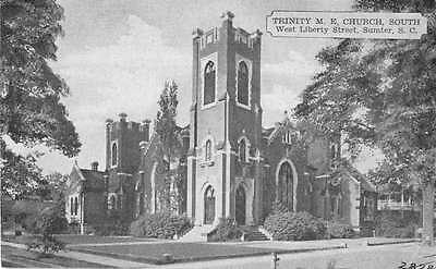Sumter South Carolina Trinity Me Church Antique Postcard J51405
