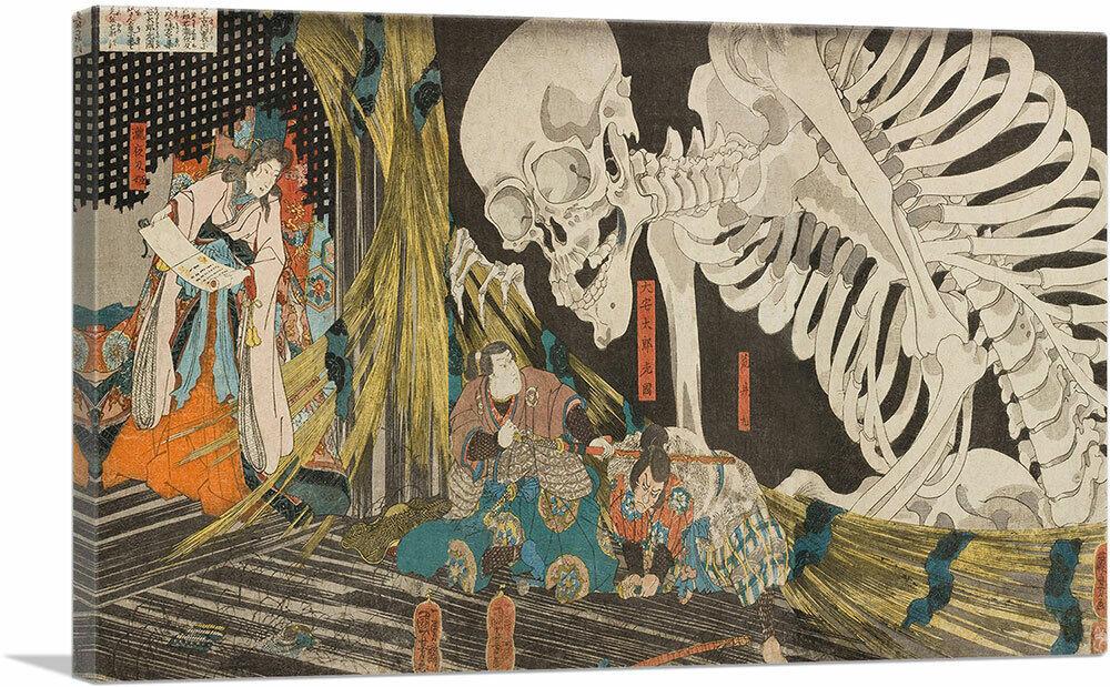 The sumo wrestlers 1840 Poster Canvas Print 36 Utagawa Kuniyoshi