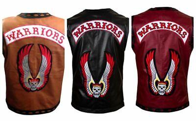 Die Krieger Film Echtleder Weste Motorrad Rider Halloween Kostüm Neu
