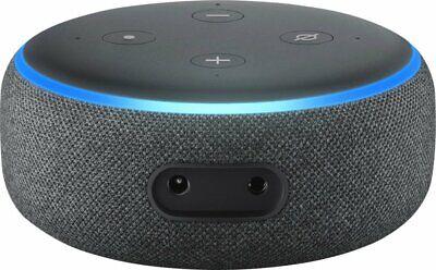 Echo Dot (3rd Gen) - Smart speaker with Alexa - Charcoal - Brand New BRAND NEW
