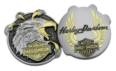 Harley-Davidson Eagle Claw B&S Challenge Coin, 1.75 in. Silver & Gold 8008963