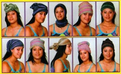 - Magic Head Wrap Stretchy Cotton Boho Hippie Head Band Nepalese Multiple Colors