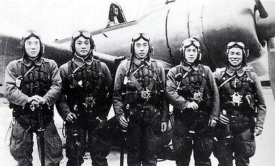 B&W WWII Photo Japanese Kamikaze Pilots Last Pic  WW2