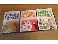 Joanna Sheen's DVD's x 3 - Spring & Summer, Autumn & Winter, Pretty Papercraft
