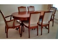 Sutcliffe dining room table and 6 chairs