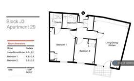 2 bedroom flat in John Thornycroft Road, Southampton, SO19 (2 bed) (#1086669)