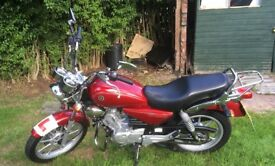 Yamaha ybr 125 custom 2650miles +extras worth over £100