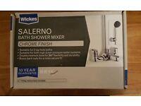 For Sale Brand New in Box Wickes Salerno Bath Shower Mixer in Chrome Finish