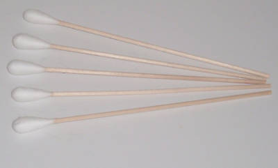 50 Wattestäbchen, grosser Kopf , L= 150 mm