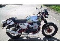 2011 MOTO GUZZI V7 CAFE RACER - LIMITED EDITION MODEL NUMBER 225 - 450 MILES ONLY.