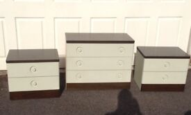 3 piece bedroom set manufactured by stag in reasonable condition