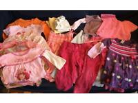 16 items bundles of clothes for baby girl 18-24 months