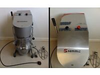 Sammic commercial cake/dough mixer with dough hook and mixer attachments