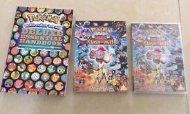 BRAND NEW Pokemon Handbook & DVD