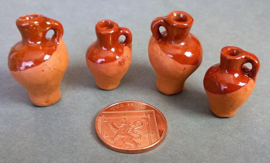 miniature glazed stoneware jugs