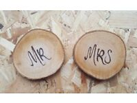 Wedding items - name settings/ favours