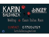 WEDDING & ITALIAN music singer AVAILABLE!!