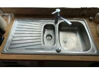 1 1/2 stainless steel kitchen sink and tap