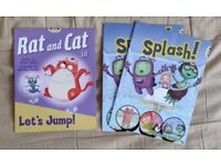 x3 Rat and Cat in Let's Jump & Splash by Jeanne Willis PEARSON