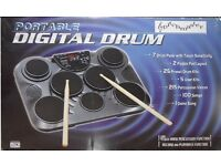 New & Boxed Pitch Master Digital Drum Kit DU071941.(Portable) Ideal for Practice / Beginner