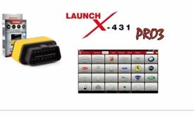 2017 Launch X431 Pro Diagnostic Tool - Pre Installed On 10 Inch Tablet - Wireless DEALER TOOL