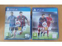 PS4 Playstation FIFA 15 and 16